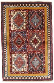 Yalameh Matto 102X160 Itämainen Käsinsolmittu Tummanruskea/Ruskea (Villa, Persia/Iran)