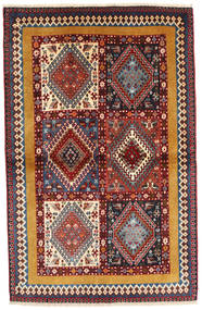 Yalameh Rug 102X160 Authentic  Oriental Handknotted Dark Brown/Brown (Wool, Persia/Iran)