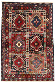 Yalameh Rug 104X147 Authentic  Oriental Handknotted Dark Red/Brown (Wool, Persia/Iran)