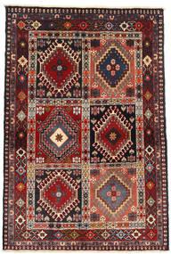 Yalameh Rug 104X147 Authentic  Oriental Handknotted Dark Red/Brown (Wool, Persia/Iran)