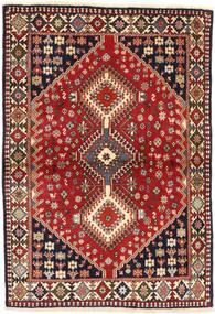 Yalameh Matto 102X147 Itämainen Käsinsolmittu Tummanpunainen/Tummanruskea (Villa, Persia/Iran)