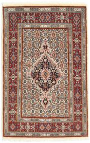 Moud Matto 76X118 Itämainen Käsinsolmittu Ruskea/Tummanruskea (Villa/Silkki, Persia/Iran)