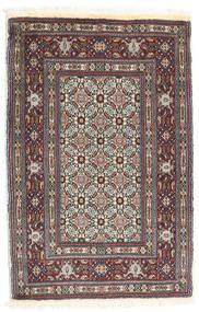 Moud Matta 76X118 Äkta Orientalisk Handknuten Mörkblå/Beige (Ull/Silke, Persien/Iran)