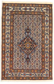 Moud Rug 78X116 Authentic  Oriental Handknotted Beige/Light Grey (Wool/Silk, Persia/Iran)