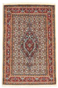 Moud Tappeto 80X118 Orientale Fatto A Mano Beige/Rosso Scuro (Lana/Seta, Persia/Iran)