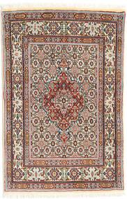 Moud Szőnyeg 76X116 Keleti Csomózású Bézs/Világosbarna (Gyapjú/Selyem, Perzsia/Irán)