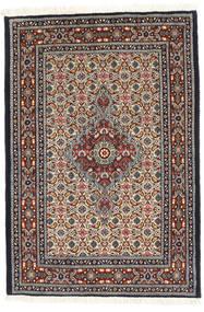ムード 絨毯 80X118 オリエンタル 手織り 深紅色の/ベージュ (ウール/絹, ペルシャ/イラン)