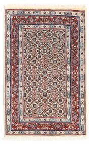 ムード 絨毯 58X90 オリエンタル 手織り 薄い灰色/ベージュ (ウール/絹, ペルシャ/イラン)