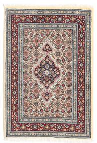 ムード 絨毯 60X90 オリエンタル 手織り ベージュ/薄い灰色 (ウール/絹, ペルシャ/イラン)
