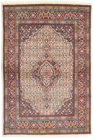 Moud Rug 100X150 Authentic  Oriental Handknotted Light Brown/Beige (Wool/Silk, Persia/Iran)