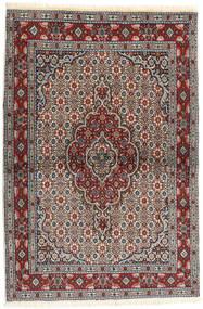 Moud Matto 98X149 Itämainen Käsinsolmittu Tummanruskea/Ruskea (Villa/Silkki, Persia/Iran)