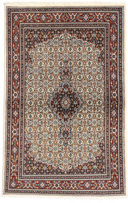 Moud Rug 95X150 Authentic  Oriental Handknotted Dark Blue/Light Brown (Wool/Silk, Persia/Iran)