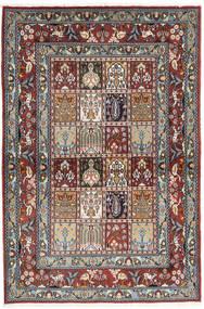 Moud Koberec 100X151 Orientální Ručně Tkaný Tmavě Modrý/Světle Hnědá (Vlna/Hedvábí, Persie/Írán)