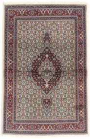 Moud Matta 98X148 Äkta Orientalisk Handknuten Mörkbrun/Beige (Ull/Silke, Persien/Iran)