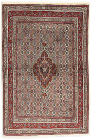 Moud Rug 100X150 Authentic  Oriental Handknotted Brown/Dark Brown (Wool/Silk, Persia/Iran)