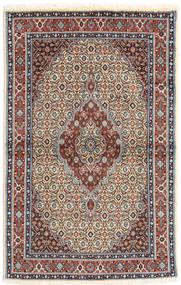 Moud Matta 95X150 Äkta Orientalisk Handknuten Ljusbrun/Ljusgrå (Ull/Silke, Persien/Iran)