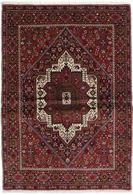 Gholtogh Tæppe 103X146 Ægte Orientalsk Håndknyttet Mørkerød/Mørkebrun (Uld, Persien/Iran)