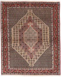 Senneh Alfombra 125X153 Oriental Hecha A Mano Marrón Claro/Marrón Oscuro (Lana, Persia/Irán)
