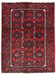Hosseinabad Tæppe 66X86 Ægte Orientalsk Håndknyttet Mørkegrå/Rød (Uld, Persien/Iran)