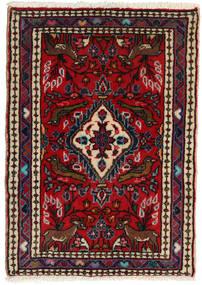 Asadabad Matto 61X86 Itämainen Käsinsolmittu Musta/Tummanpunainen (Villa, Persia/Iran)