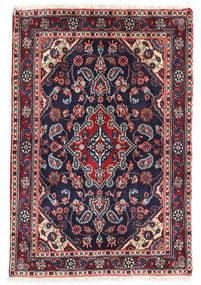 Hamadan Shahrbaf Rug 62X92 Authentic  Oriental Handknotted Dark Purple/Dark Beige (Wool, Persia/Iran)
