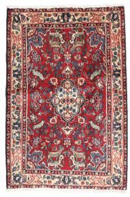 Asadabad Vloerkleed 67X101 Echt Oosters Handgeknoopt Purper/Roestkleur (Wol, Perzië/Iran)