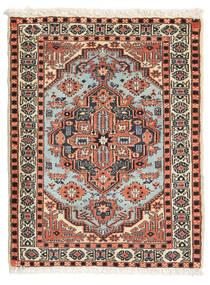 Ardebil Matta 70X91 Äkta Orientalisk Handknuten Ljusbrun/Mörkbrun (Ull, Persien/Iran)