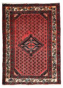 Hamadan Vloerkleed 70X98 Echt Oosters Handgeknoopt Donkerrood/Donkerbruin (Wol, Perzië/Iran)