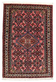 Asadabad Matto 60X90 Itämainen Käsinsolmittu Tummanpunainen/Ruskea (Villa, Persia/Iran)