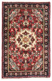 Hamadan Vloerkleed 56X91 Echt Oosters Handgeknoopt Zwart/Bruin (Wol, Perzië/Iran)
