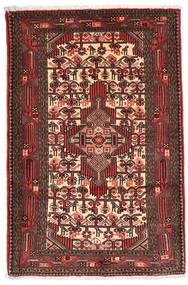 Asadabad Χαλι 83X127 Ανατολής Χειροποιητο Σκούρο Κόκκινο/Σκούρο Καφέ (Μαλλί, Περσικά/Ιρανικά)