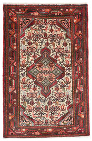 Asadabad Rug 78X123 Authentic  Oriental Handknotted Brown/Black (Wool, Persia/Iran)