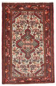 Asadabad Matto 78X123 Itämainen Käsinsolmittu Ruskea/Musta (Villa, Persia/Iran)