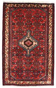 Asadabad Rug 81X130 Authentic  Oriental Handknotted Dark Red/Dark Green/Rust Red (Wool, Persia/Iran)
