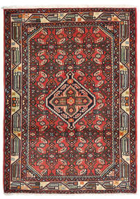 Asadabad Rug 84X118 Authentic  Oriental Handknotted Brown/Dark Red (Wool, Persia/Iran)