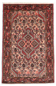 Asadabad Rug 76X117 Authentic  Oriental Handknotted Rust Red/Black (Wool, Persia/Iran)