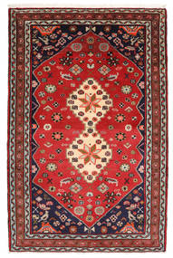 Hamadan Rug 80X123 Authentic  Oriental Handknotted Rust Red/Dark Red (Wool, Persia/Iran)
