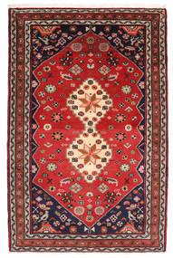 Hamadan Rug 80X123 Authentic  Oriental Handknotted Rust Red/Dark Red (Wool, Persia/Iran)