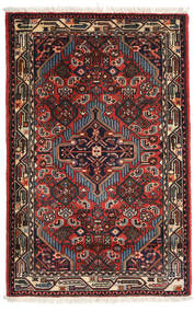 Asadabad Matta 80X127 Äkta Orientalisk Handknuten Svart/Mörkblå (Ull, Persien/Iran)