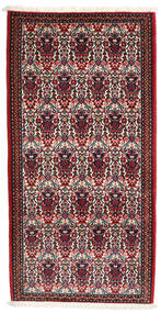 Abadeh Rug 73X144 Authentic  Oriental Handknotted Dark Red/Dark Brown (Wool, Persia/Iran)