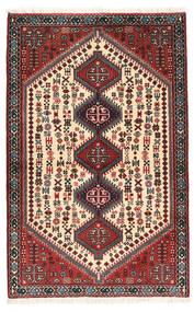 Abadeh Szőnyeg 78X122 Keleti Csomózású Sötétbarna/Sárga (Gyapjú, Perzsia/Irán)