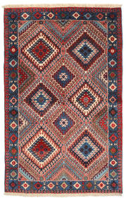 Yalameh Rug 77X124 Authentic Oriental Handknotted Purple/Rust Red (Wool, Persia/Iran)