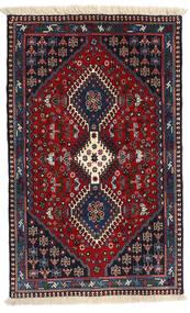 Yalameh Matto 80X130 Itämainen Käsinsolmittu Tummansininen/Tummanpunainen (Villa, Persia/Iran)