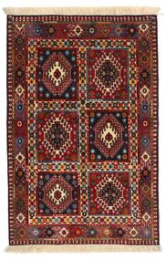 Yalameh Dywan 80X120 Orientalny Tkany Ręcznie Ciemnoczerwony/Czarny (Wełna, Persja/Iran)