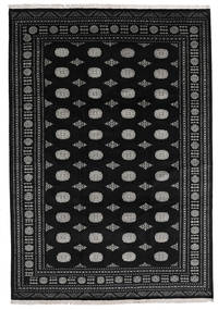 Pakistan Bokhara 2Ply Rug 240X348 Authentic  Oriental Handknotted Black/Dark Grey (Wool, Pakistan)
