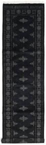 Pakistan Bokhara 2Ply Matta 77X311 Äkta Orientalisk Handknuten Hallmatta Mörkgrå (Ull, Pakistan)