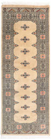 Pakistan Bokhara 3Ply Rug 81X206 Authentic  Oriental Handknotted Hallway Runner  Beige/Light Grey (Wool, Pakistan)