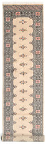 Pakistan Bokhara 2Ply Teppe 77X422 Ekte Orientalsk Håndknyttet Teppeløpere Lysbrun/Beige (Ull, Pakistan)