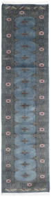 Pakistan Bokhara 2Ply Rug 75X302 Authentic Oriental Handknotted Hallway Runner Dark Grey/Blue/Dark Blue (Wool, Pakistan)
