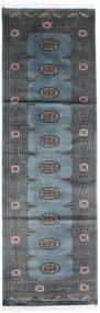 Pakistan Bokhara 2Ply Teppe 78X246 Ekte Orientalsk Håndknyttet Teppeløpere Mørk Grå/Lys Blå (Ull, Pakistan)